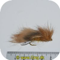 FL00726 - Seatrout UV Flies - Dark Zonker UV - Str. 06 - Brunlig