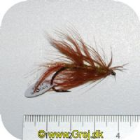 FL00733 - Seatrout UV Flies - Omoborsten UV - Str. 04 -  Brunlig