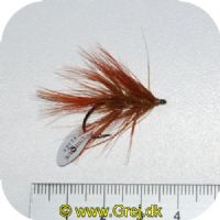 FL00734 - Seatrout UV Flies - Omoborsten UV - Str. 06 -  Brunlig