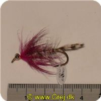 FL00739 - Seatrout UV Flies - Polar Magnus UV - Str. 04 -  Gråbrun med pink tud