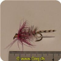 FL00740 - Seatrout UV Flies - Polar Magnus UV - Str. 04 -  Gråbrun med pink tud