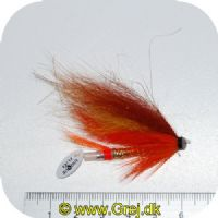 FL80008 - Modern Tube Flies - UF Ronneaflugan Plast 1.5 - Str. 1.5 - Orange/brunrød/gul