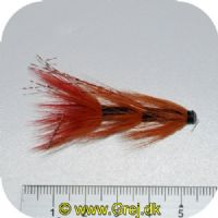 FL80014 - Modern Tube Flies - UF Ullsocken Tube Plast 1.5 - Str. 1.5 - brunrød