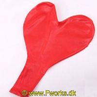 HJER3601 - Giganttisk hjerte ballon (90 cm/ 36 tomme)