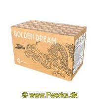 J55 - Golden dream - 495g NEM - Guld guld og guld med blå dips.