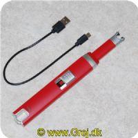 JE40664 - USB Lighter - God til at tænde når det blæser - Lyner mellem de 2 tændhoveder