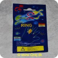 LIGHTS1 - Fingerring - Knæklys - m/2 knæklys - Assorterede farver.<BR> Ikke egnet til børn under 5 år. Da pakken kan indeholde små dele.