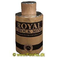 RY05 - Royal - Chock Mine - Crackling buket efterfulgt af sølvspinner med salut - NEM: 130g