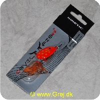 SPIN08 - Kinetic Devil Fish Spinner - Str. 2 - 48mm/8,5g - Orange blad m/gule pletter - Kobber krop - Orange fjer