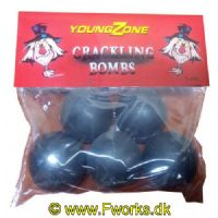 YZ42 - Crackling Bombs - Voldsomme crackling kugler med hele 12g NEM i hver kugle-5 stk